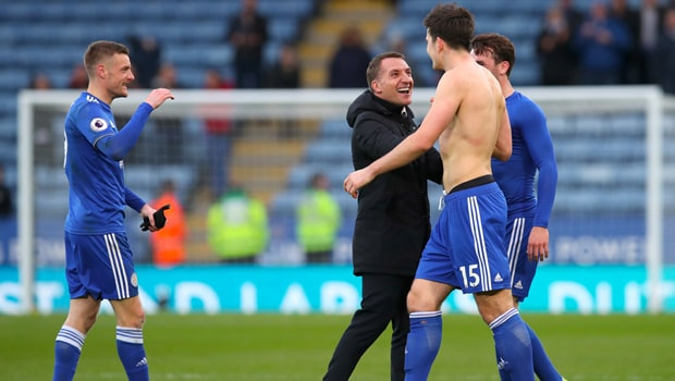 Harry-Maguire-and-Brendan-Rodgers-Leicester-City-min