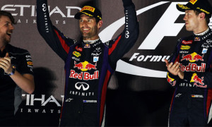 Mark Webber and Sebastian Vettel red bull abu dhabi GP
