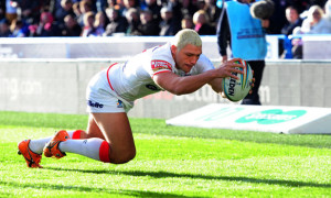 Ryan Hall England scores v ireland rugby league world cup