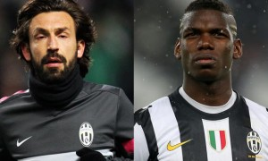 Andrea Pirlo and Paul Pogba Juventus
