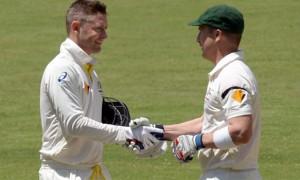 Brad Haddin and Michael Clarke Cricket