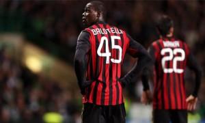 striker Mario Balotelli AC Milan