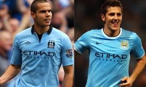 Jack Rodwell and Stevan Jovetic Manchester City