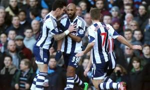 Liam Ridgewell and West Brom team-mates