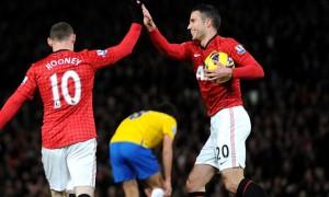Wayne Rooney and Robin van Persie Man United Duo