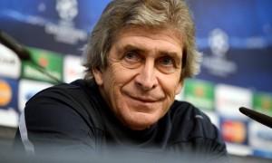 Manchester City boss Manuel Pellegrini - barcelona