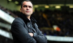 manager Roberto Martinez everton