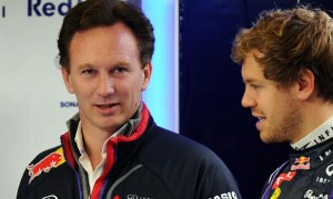Christian Horner and Sebastian Vettel Red Bull Formula One