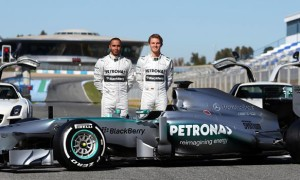 Lewis Hamilton and Nico Rosberg Mercedes World Drivers Championship