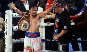 Manny Pacquiao defeating Tomothy Bradley Jr in Pacquaio v Bradley 2