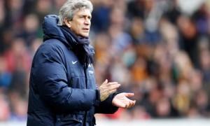 Manuel Pellegrini Manchester City manager against Liverpool