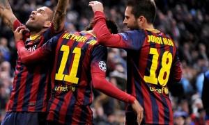 Neymar and Jordi Alba barcelona footballer