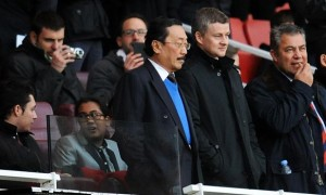 Ole Gunnar Solskjaer and Cardiff City owner Vincent Tan