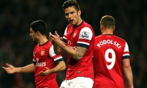 Olivier Giroud Arsenal vs Everton