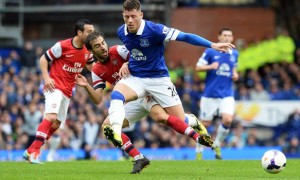 Ross Barkley Everton beating Arsenal Champions League