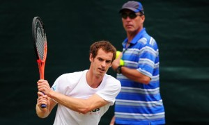 Andy Murray and coach Ivan Lendl tennis