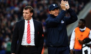 Brendan Rodgers Liverpool and Tony Pulis Crystal Palace
