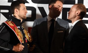 Carl Froch and George Groves Boxing