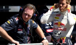 Christian Horner and Sebastian Vettel Red Bull team