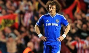 David Luiz Chelsea v Atletico Madrid