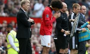 Marouane Fellaini sad david moyes sacking man united