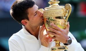 Novak Djokovic winning Wimbledon mens single