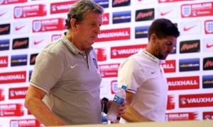 Steven Gerrard and Roy Hodgson England