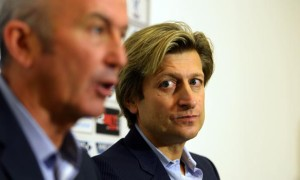 Crystal Palace Chairman Steve Parish with Tony Pulis