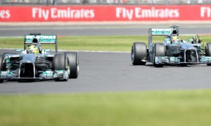 Mercedes Lewis Hamilton and Nico Rosberg
