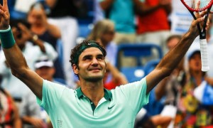 Roger Federer beats David Ferrer