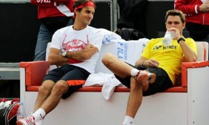 Roger Federer and Stan Wawrinka ahead of Davis Cup