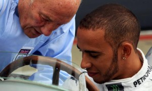 Lewis Hamilton and Sir Stirling Moss