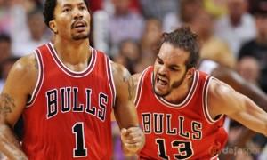 Derrick Rose and Joakim Noah Chicago Bulls