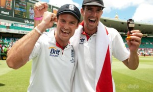 England captain Andrew Strauss and Kevin Pietersen Cricket