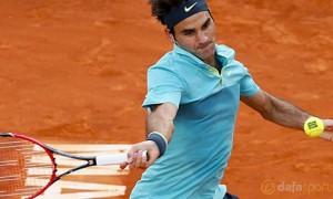 Roger Federer v Nick Kyrgios Madrid Masters Tennis
