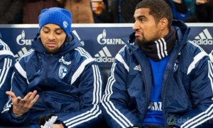 Schalke Kevin-Prince Boateng and Sidney Sam