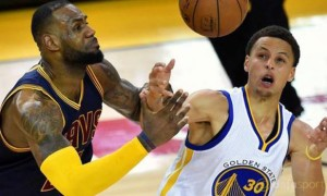 Cleveland Cavaliers v Golden State Warriors Game 2 NBA Finals Curry and Lebron