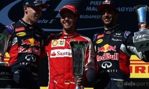 Ferrari Sebastian Vettel Hungarian Grand Prix 2015