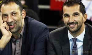 Peja Stojakovic and Vlade Divac Sacramento Kings NBA