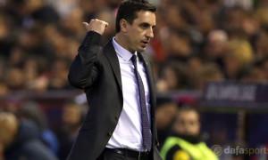 Barakaldo v Valencia coach Gary Neville