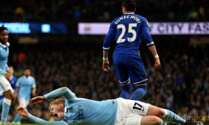 Man City Kevin De Bruyne injured Capital One Cup
