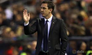 Valencia Head Coach Gary Neville