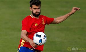 Barcelona defender Gerard Pique Euro 2016 Spain