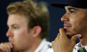 Lewis Hamilton and Nico Rosberg F1