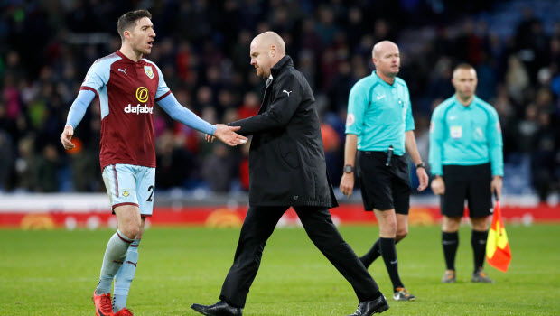 Burnley manager Sean Dyche after the final whistle of the Premier League