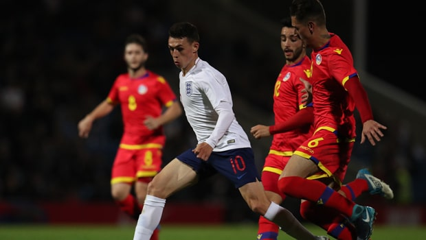 Phil Foden England Under-21 Championship Qualifying