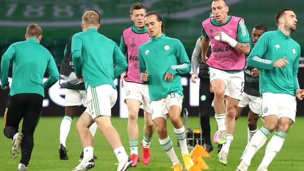 Celtic players Europa League