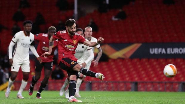 Bruno Fernandes Manchester United Europa League