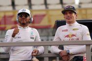ewis Hamilton and Max Verstappen