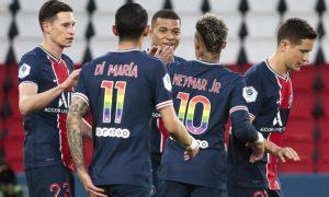 Neymar and Kylian Mbappe PSG Ligue 1